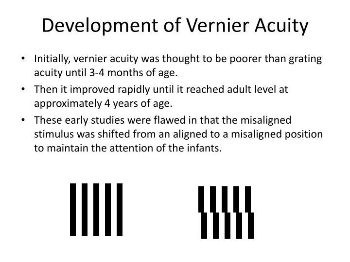 Development of Vernier Acuity