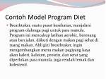 contoh model program diet