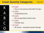 crash severity categories