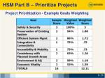project prioritization example goals weighting