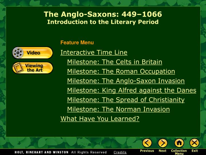 the anglo saxons 449 1066 introduction to the literary period n.