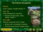 the roman occupation