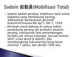 sodoin mobilisasi total
