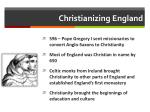 christianizing england
