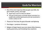 gods for warriors