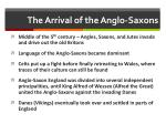 the arrival of the anglo saxons