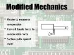 modified mechanics