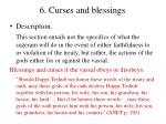 6 curses and blessings