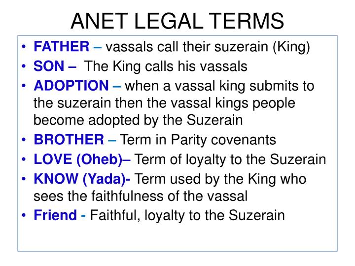 ANET LEGAL TERMS
