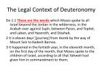the legal context of deuteronomy