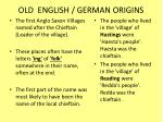 old english german origins