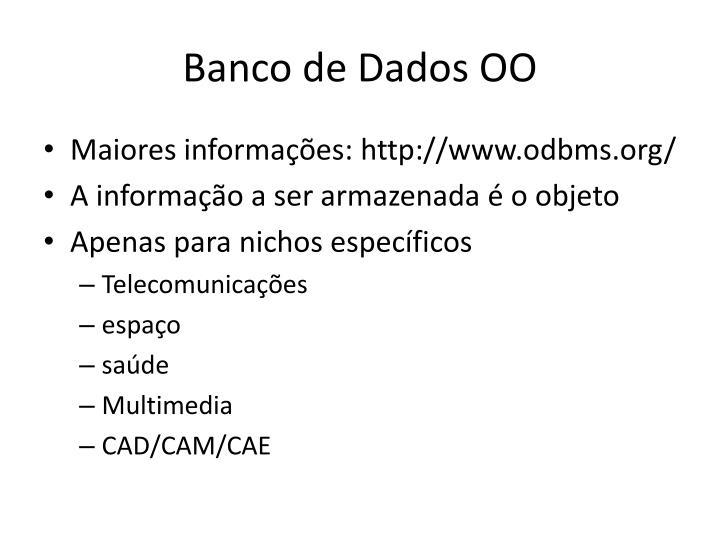 Banco de dados oo