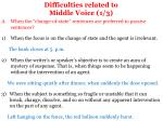 difficulties related to middle voice 1 3