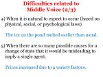 difficulties related to middle voice 2 3