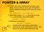pointer array