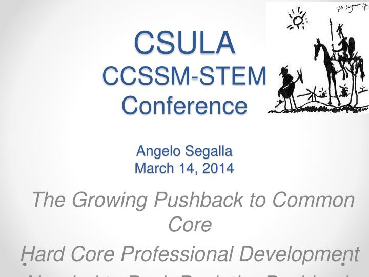 csula ccssm stem conference angelo segalla march 14 2014 n.