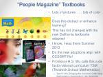 people magazine textbooks