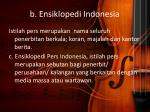 b ensiklopedi indonesia