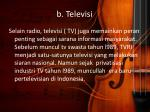 b televisi