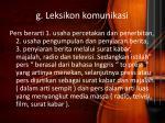 g leksikon komunikasi