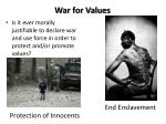 war for values