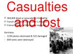 casualties and lost