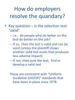 how do employers resolve the quandary