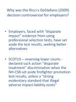 why was the ricci v destefano 2009 decision controversial for employers