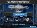 focus et lancement majeur dition 2010 microsoft cloud windows phone 7