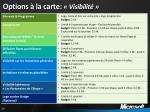 options la carte visibilit