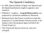the spanish candidacy