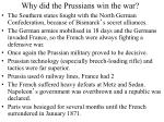 why did the prussians win the war