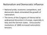 nationalism and democratic influence