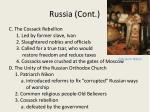 russia cont