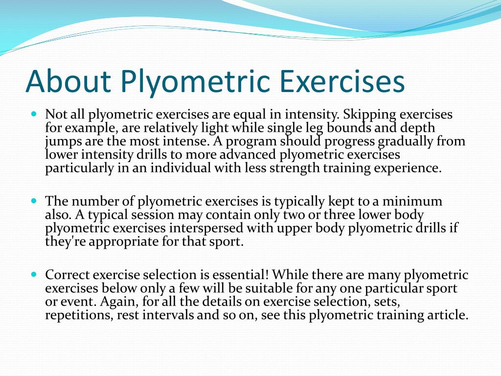 PPT - Plyometric Exercises PowerPoint Presentation - ID:2079669