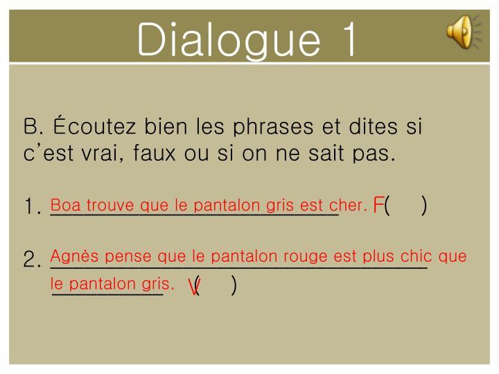 Dialogue 1