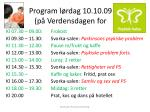program l rdag 10 10 09 p verdensdagen for
