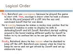 logical order