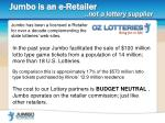 jumbo is an e retailer