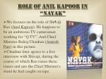 role of anil kapoor in nayak