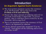 introduction an argument against god s existence