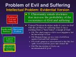 problem of evil and suffering intellectual problem evidential version10