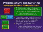 problem of evil and suffering intellectual problem evidential version11