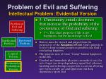 problem of evil and suffering intellectual problem evidential version12