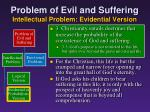 problem of evil and suffering intellectual problem evidential version14
