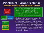 problem of evil and suffering intellectual problem evidential version15