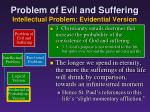 problem of evil and suffering intellectual problem evidential version16