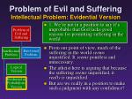 problem of evil and suffering intellectual problem evidential version2