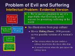 problem of evil and suffering intellectual problem evidential version5
