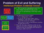 problem of evil and suffering intellectual problem evidential version6
